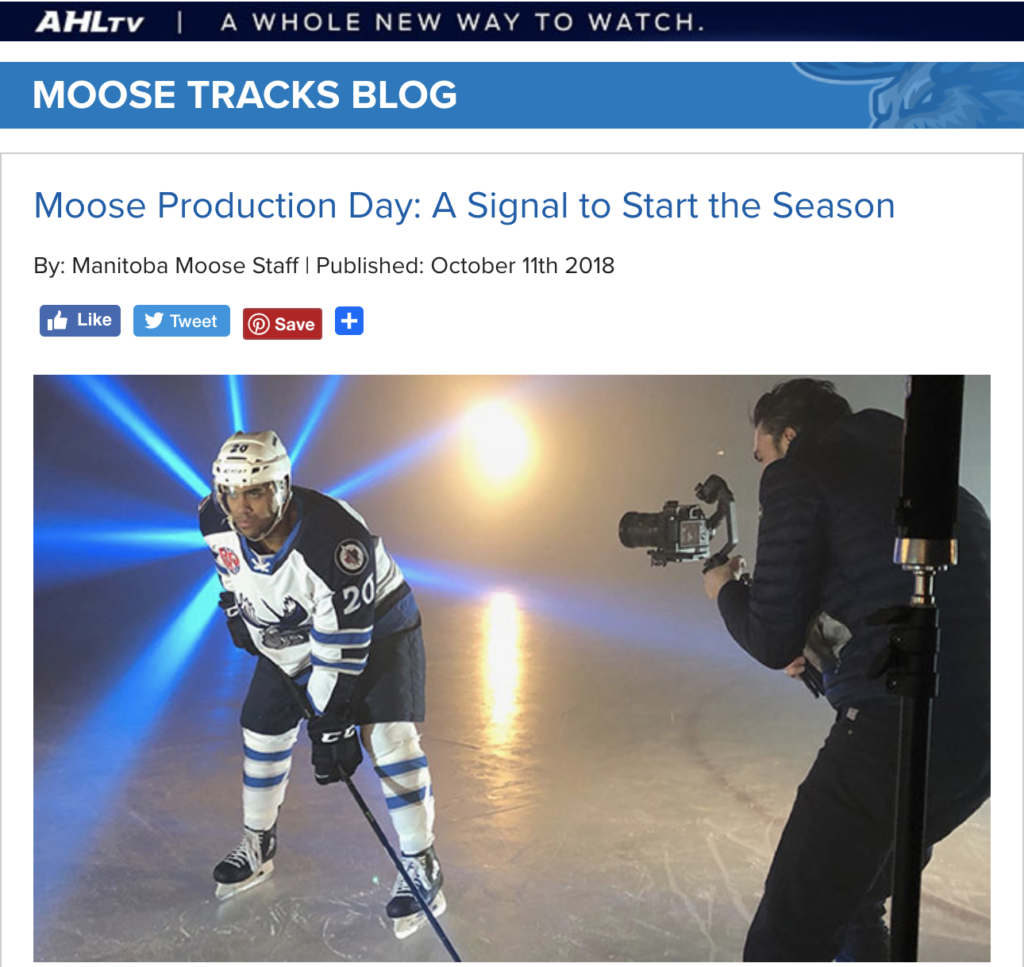 Manitoba Moose Production Day Story